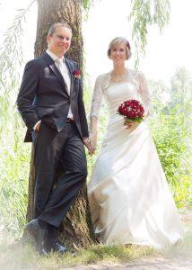 Braut kurze Haare