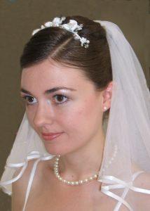 Brautfrisur Schleier Diadem